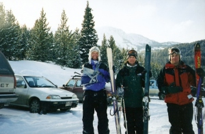 Eric, Cort and I testing telemark skis. Winter 1997/1998.
