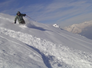 This picture was taken on February 24, 2005-one of the sickest ski days I have ever had.