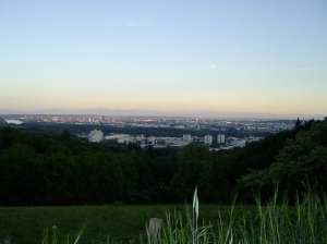 The view of Linz from Schatzweg.