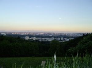 The view of Linz from Schatzweg.