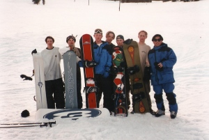 Dave, Jimmy, Eric, Ahri, Adam, Nozomu and I. Lookout Pass, Back-in-the-Day. 1995?