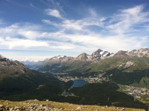 Looking south from Muottas Muragl towards Celerina and St. Moritz.
