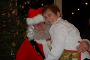 Mom and Santa.