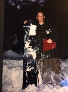 "Lookout Pass ""night boarding"" ca 1994."
