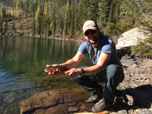 A decent Cutthroat caught on the fly.