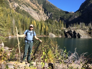 Hiking stick and a fly rod. What more does a man need?